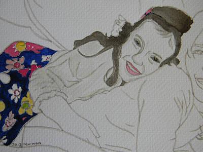 Cousins Portrait 3 Of 3 Art Print