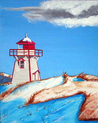 Painting - Covehead Harbor Light by Anthony Ross