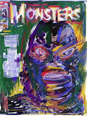 Horror Movies Mixed Media - Cover Guy by Russell Pierce