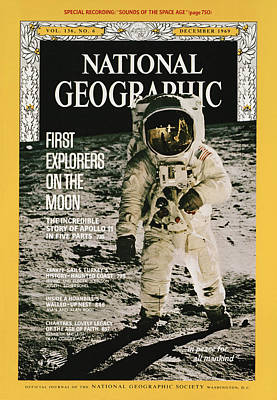 Aldrin Photograph - Cover Of The December, 1969 Issue by Nasa