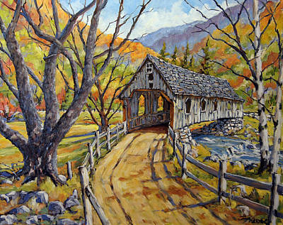 Walter Pranke Painting - Covered Bridge 04 by Richard T Pranke
