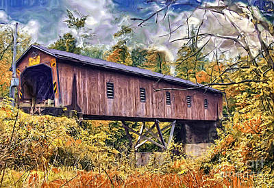 Photograph - Covered Bridge 1 by Tom Griffithe