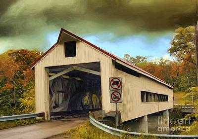 Photograph - Covered Bridge 2 by Tom Griffithe
