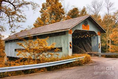 Photograph - Covered Bridge 3 by Tom Griffithe