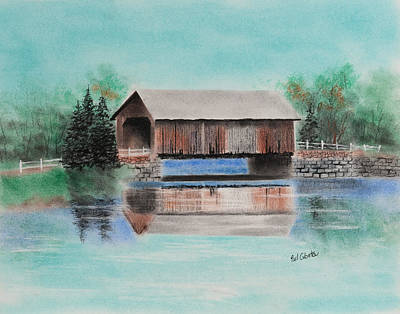Covered Bridge Allegheny County Art Print by Paul Cubeta