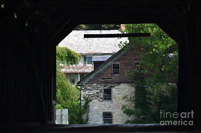 Photograph - Covered Bridge And Home by Randy J Heath