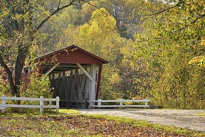 Photograph -  Everett Covered Bridge by Ann Bridges