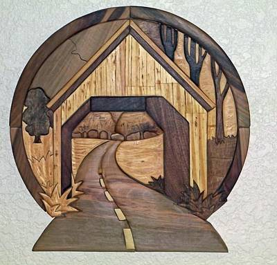 Covered Bridge Art Print by Bill Fugerer