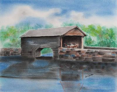 Pastel - Covered Bridge Bucks County by Paul Cubeta