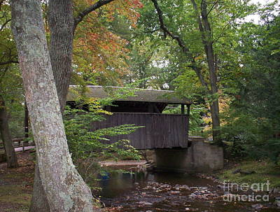 Photograph - Covered Bridge By The Cottage  by Nancy Patterson