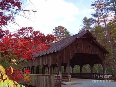 Photograph - Covered Bridge by Crystal Joy Photography