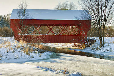 Art Print featuring the photograph Covered Bridge by Eunice Gibb
