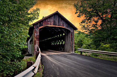Photograph - Covered Bridge by Fred LeBlanc