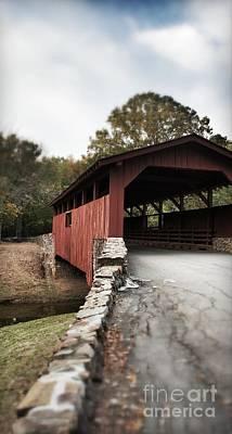 Photograph - Covered Bridge In Arkansas by J Kinion