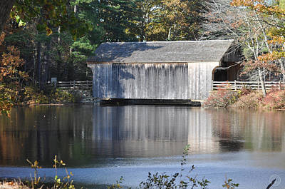 Photograph - Covered Bridge In Autumn by Healing Woman
