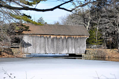 Photograph - Covered Bridge In Winter by Healing Woman