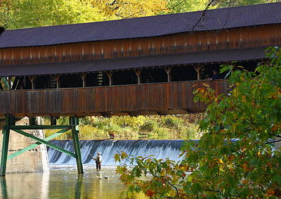 Photograph - Covered Bridge by Kevin Schrader