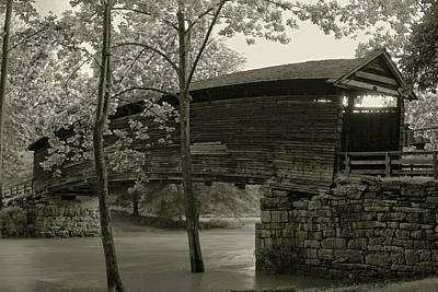 Photograph - Covered Bridge by Mary Almond
