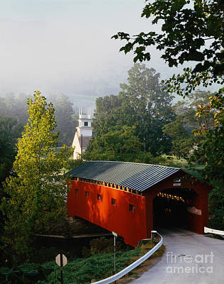 Photograph - Covered Bridge by Rafael Macia and Photo Researchers
