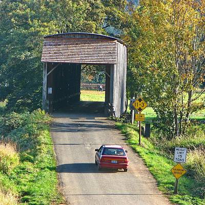 Photograph - Covered Bridge Road by Ansel Price