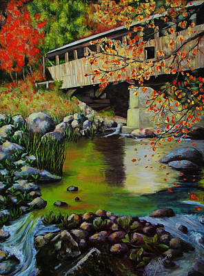 Painting - Covered Bridge by Suni Roveto