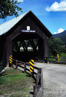 Music Royalty-Free and Rights-Managed Images - Covered Bridge Vermont New Hampshire by Thomas R Fletcher