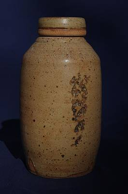 Ceramic Art - covered Jar  by Rick Ahlvers