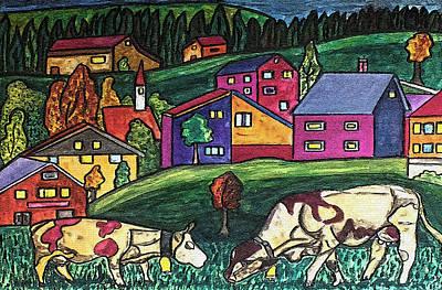 Cow Art Art Print by Monica Engeler