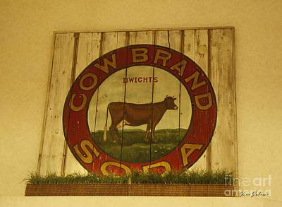 Cow Brand Soda Signe Art Print