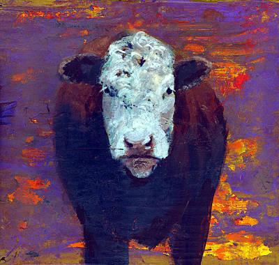 Cow Art Print by Eric Atkisson