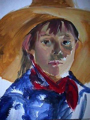 Painting - Cow Girl by Jan Swaren