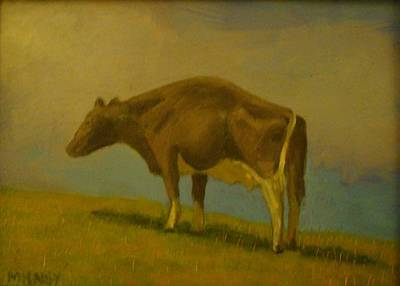 Painting - Cow On Hill by Mark Haley
