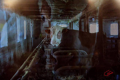 Cow Shelter Indoor Art Print by Colette V Hera  Guggenheim