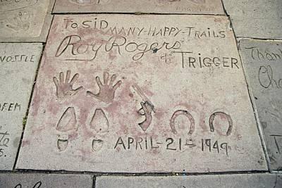 Cowboy Actor Roy Rogers Hand Art Print by Everett