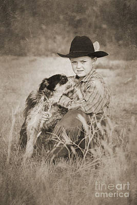 Digital Art - Cowboy And Dog by Cindy Singleton