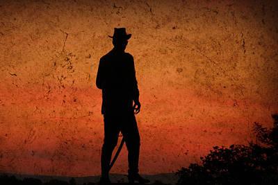 Cowboy Hat Photograph - Cowboy At Sunset by Trish Tritz