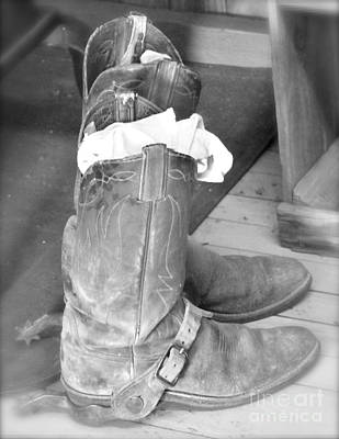 Photograph - Cowboy Boots And Spurs by Pamela Walrath