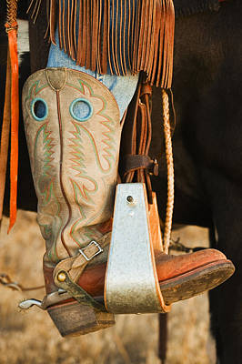 Working Cowboy Photograph - Cowboy Boots by Tetra Images