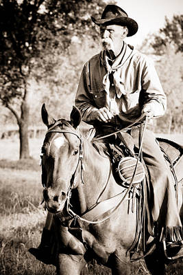 Cattle Drive Photograph - Cowboy Claude by Toni Hopper
