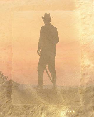 Cowboy Hat Photograph - Cowboy On The Hill by Trish Tritz