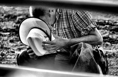 Bull Photograph - Cowboy Prayer by Emily Stauring