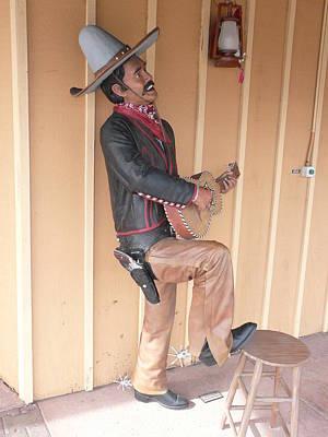 Cowboy Statue Art Print