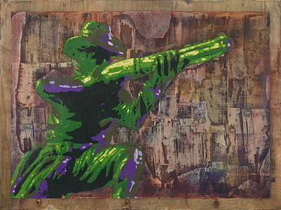 Ptsd Painting - Cowboy Up by Josh Bernstein