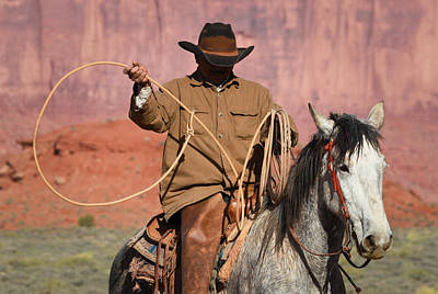 Photograph - Cowboys Signature 8 by Diane Bohna
