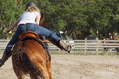 Photograph - Cowgirl Away by Lynda Dawson-Youngclaus