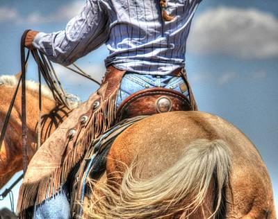 Palomino Horse Photograph - Cowgirl Extraordinaire by Vikki Correll