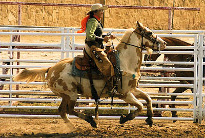 Photograph - Cowgirl Shooting Events by Cheryl Poland