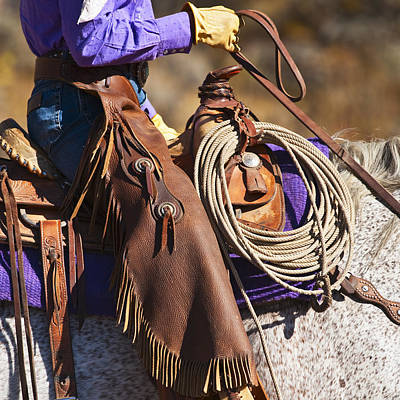 Working Cowboy Photograph - Cowgirl by Tetra Images