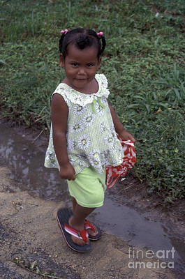 Photograph - Coy Panamanian Girl Bocas Del Toro by John  Mitchell