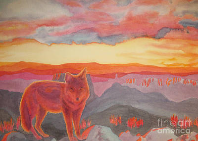 Coyote Cliff Art Print by Vikki Wicks